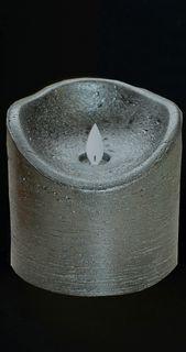 LED Echtwachskerze Kerze 10x10cm Farbauswahl Timer flackernde Wachskerze Kerzen [3]