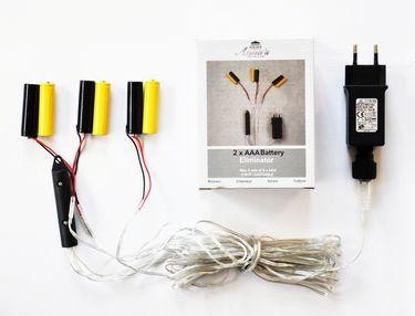 Batterie Adapter 3 x 2 AAA Micro Batterien 3,2V Wandler 4m Kabel Netzteil [1]