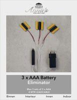 Batterie Netzteil Adapter 3x3 AAA Micro Batterien 4,5V Wandler 4m Kabel Netzteil 5