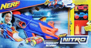 Hasbro Nerf Nitro C0784EU4 - LongShot Smash Fahrzeugblasterset [1]