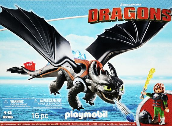 Playmobil Dragons 9246 Hicks und Ohnezahn Drache