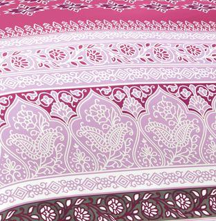 Fleuresse Mako Satin Bettwäsche 3 tlg. Ornamente Silber Violett Flieder 113496/14 [3]