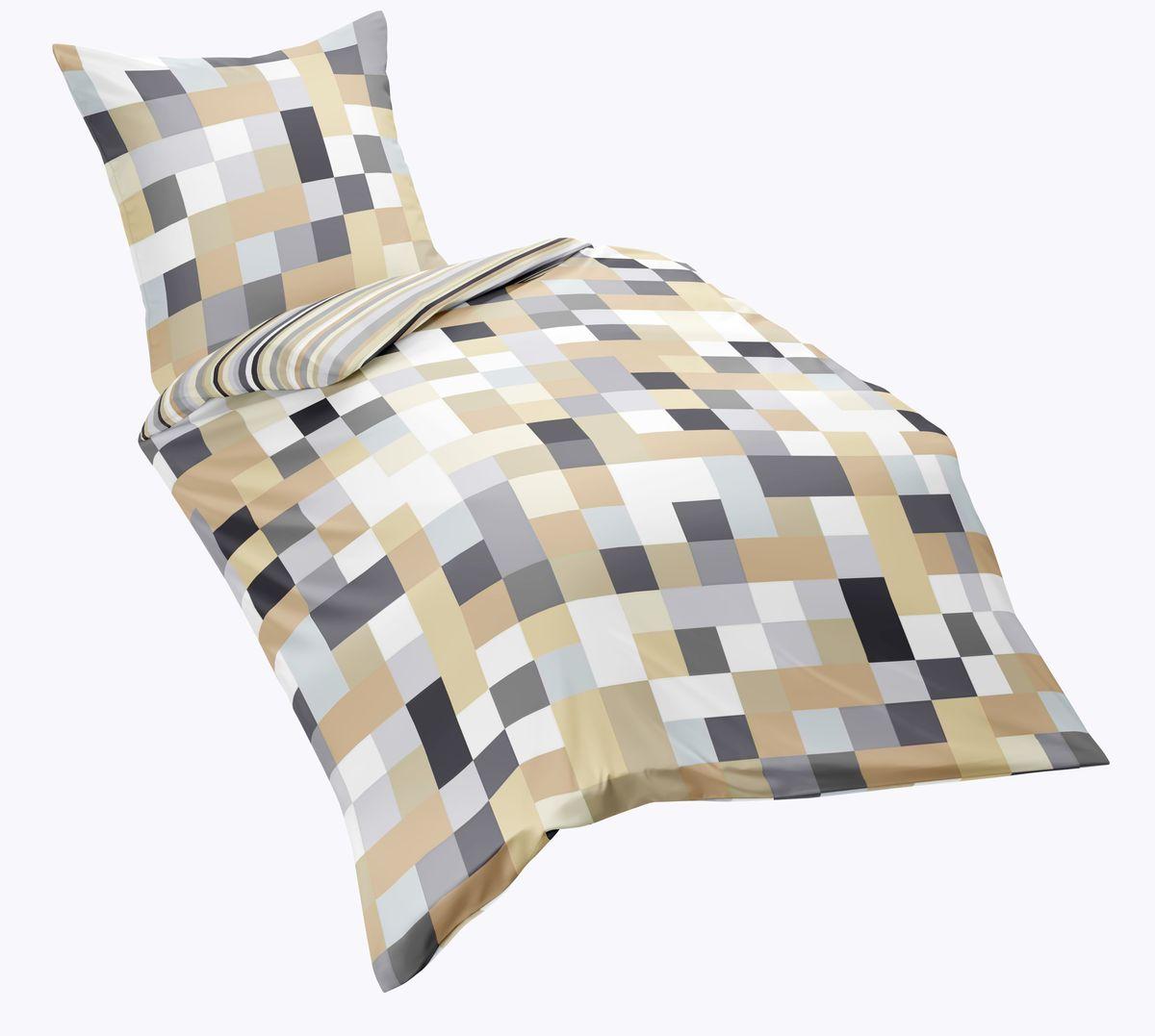 fleuresse renforce bettw sche 3 tlg karos okker sand braun wei 143323 7 bettw sche bettw sche. Black Bedroom Furniture Sets. Home Design Ideas