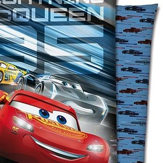 CARS 3 Biber Wende Bettwäsche 135x200cm Piston Cup Lighting McQueen 2 tlg. [2]