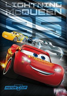 CARS 3 Biber Wende Bettwäsche 135x200cm Piston Cup Lighting McQueen 2 tlg. [3]