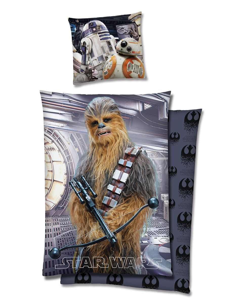 star wars wende bettw sche 135x200cm 2 tlg chewbacca 3d. Black Bedroom Furniture Sets. Home Design Ideas