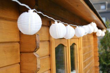 12m sehr lange LED Lampion Partylichterkette 50 Lampions Ø 7,5cm Warmweiße LEDs [2]