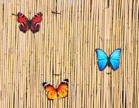 3 Schmetterlinge Metall + Aufhänger Bunt Schmetterling Windspiel Gartendeko 20cm 2