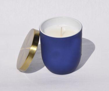 Vanille Duftkerze im Glas Kerze Premium Deckel in gebürstetem Gold Dauer ca. 25 Std. [3]