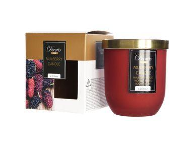Maulbeere Duftkerze im Glas Kerze Premium Deckel in gebürstetem Gold Dauer ca. 25 Std. [1]