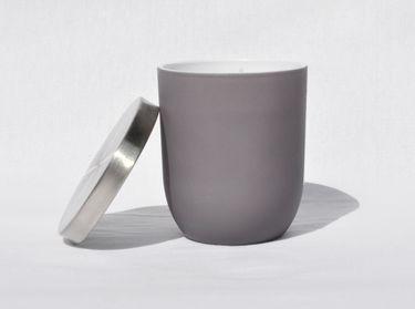 Jasmin Duftkerze im Glas Kerze Premium Deckel in gebürstetem Silber Dauer ca. 25 Std. [3]