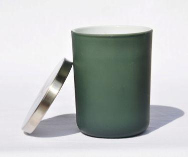 Zimt Duftkerze im Glas Kerze Premium Deckel in gebürstetem Silber Dauer ca. 45 Std. [3]