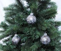 Thüringer Glas Eislack Christbaumkugeln Anthrazit Weihnachtskugeln 4 5 6 7 8 cm 2