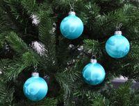 Thüringer Glas Eislack Christbaumkugeln Türkis Weihnachtskugeln 4 5 6 7 8 cm 5