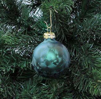 Thüringer Glas Eislack Christbaumkugeln Dunkelgrün Weihnachtskugeln 4 5 6 7 8 cm [3]