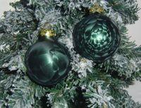 Thüringer Glas Eislack Christbaumkugeln Dunkelgrün Weihnachtskugeln 4 5 6 7 8 cm 8