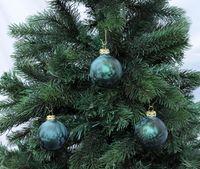 Thüringer Glas Eislack Christbaumkugeln Dunkelgrün Weihnachtskugeln 4 5 6 7 8 cm 2