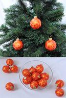 Thüringer Glas Eislack Christbaumkugeln Orange Rost Weihnachtskugeln 4 5 6 7 8 cm 1