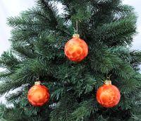 Thüringer Glas Eislack Christbaumkugeln Orange Rost Weihnachtskugeln 4 5 6 7 8 cm 2