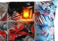 Kissen 40x40cm LED Beleuchtung Weihnachten Dekokissen Wintermotive Fotokissen 4
