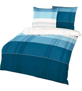 Kaeppel Fein Biber Bettwäsche Young Style Aqua Blau Weiß Modern [1]