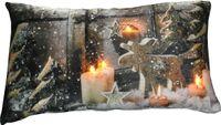 Kissen 30x50cm LED Beleuchtung Weihnachten Dekokissen Wintermotive Fotokissen 2
