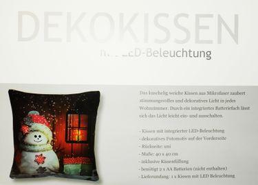 Kissen 40x40cm LED Beleuchtung Weihnachten Dekokissen Wintermotive Fotokissen [3]