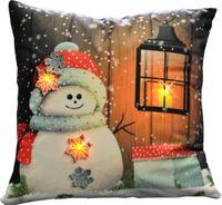Kissen 40x40cm LED Beleuchtung Weihnachten Dekokissen Wintermotive Fotokissen 2