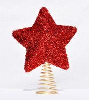 Christbaumspitze Stern Metall Glitter 18 x 14 cm Glitzer Weihnachtsbaum Spitze 3
