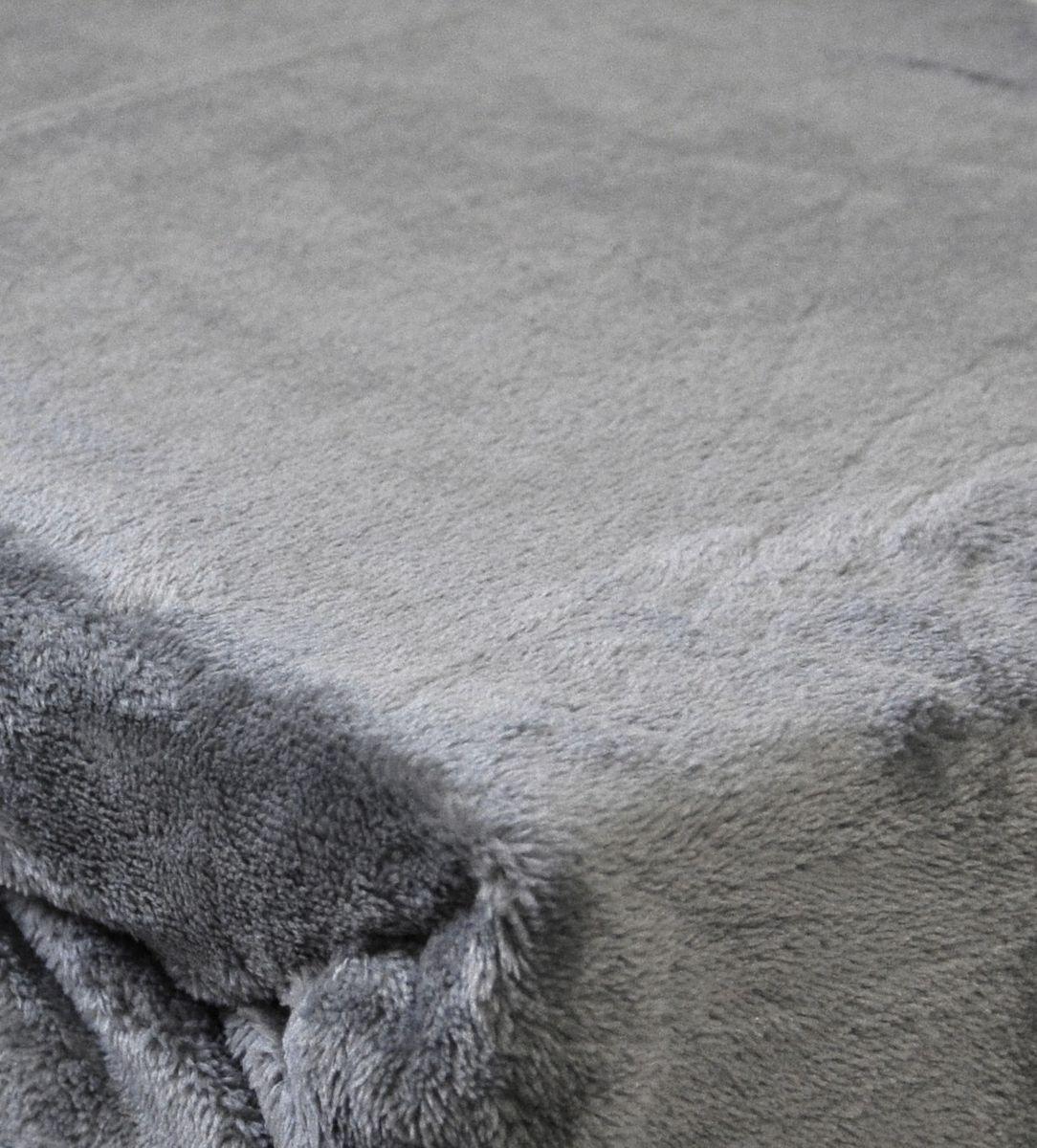 Teddy Flausch Spannbettlaken 100x200cm Cashmere Touch Offwhite Grau Anthrazit