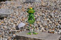 2er Set Garten Frosch Metall Figur Frösche inkl. Solar Lampe mit Tageslichtsensor 8