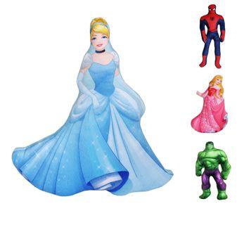 Kissen Puppe 38cm Dornröschen Cinderella Hulk Spiderman Disney Marvel Avengers Princess Figur [1]