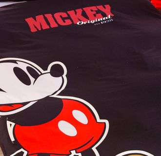 Renforce Bettwäsche 135x200cm Mickey Mouse Maus Disney Retro Schwarz [3]