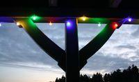 LED Lichterkette 10m Bunte LEDs 50er Partylichterkette 10