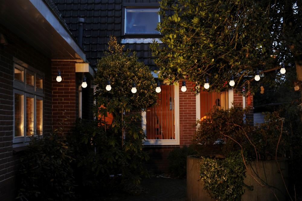 led partylichterkette 10m wei e leds 20er 5cm lichterkette beleuchtung sommer. Black Bedroom Furniture Sets. Home Design Ideas