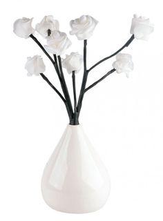 1B Ware - 8 LED Rosen Vase 33cm Batterie Warmweiß Rosenvase [2]