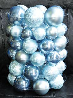 JACK 59x Glas Christbaumkugeln Himmel Blau 4 5 6 7 cm teilw. Eislack Kugeln [2]