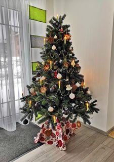 JACK 59x Eislack Glas Christbaumkugeln Schwarz Weiß 4 5 6 7 cm Weihnachtskugeln [2]