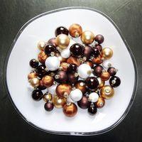 59x Glas Christbaumkugeln Braun Weiß 4 5 6 7 cm teilw. Eislack Weihnachtskugeln 4