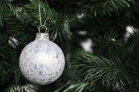 59x Glas Christbaumkugeln Braun Weiß 4 5 6 7 cm teilw. Eislack Weihnachtskugeln 6