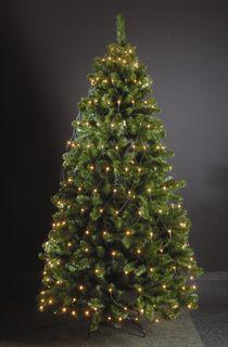 320 LED Trapez Kegel Warmweiß Netz für Weihnachtsbaum Timer 210-250cm Lichternetz [1]