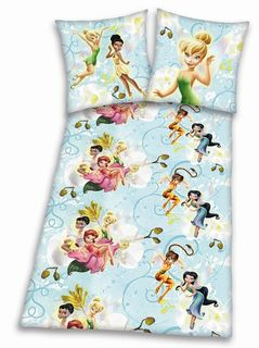 HERDING DISNEY FLANELL BETTWÄSCHE FAIRIES 135x200cm [1]