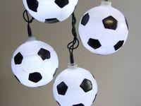 LED Partylichterkette 5m weiße LEDs 20er Lichterkette Fußball 1