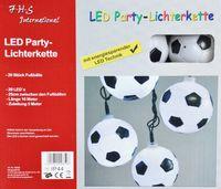 LED Partylichterkette 5m weiße LEDs 20er Lichterkette Fußball 2