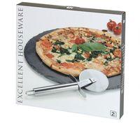 Schiefer Pizza Platte Ø 30cm Servierplatte Inkl. Edelstahl Schneider 2