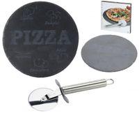 Schiefer Pizza Platte Ø 30cm Servierplatte Inkl. Edelstahl Schneider 1