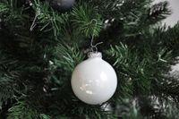 JACK 59x Glas Christbaumkugeln 4 5 6 7 cm teilw Eislack Weiß, Grau + Anthrazit 6