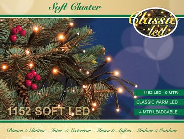 1152 Soft LED Cluster Lichterkette Warmweiß LEDs 9m Büschel Kluster Lights [3]