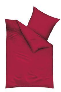 Kaeppel Biber Bettwäsche Uni 135x200cm Rot Silber Weiß Anthrazit Creme Einfarbig [2]