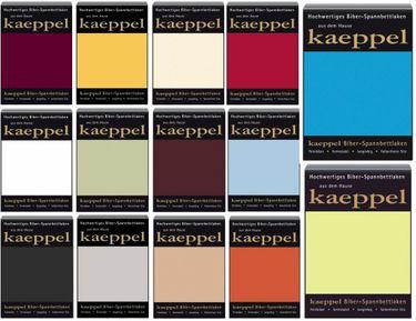Kaeppel Biber Bettlaken Betttuch 180-200x200 cm Spannbettlaken 14 Farben Uni Öko [1]
